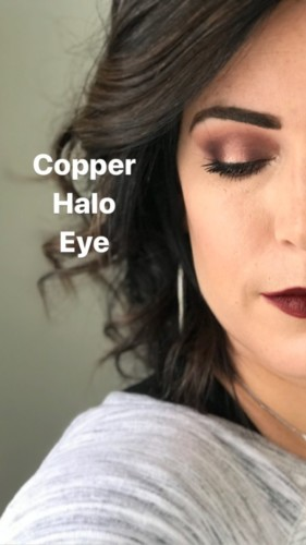 Optimistic manipulative fervent gullible Copper Halo Eyeshadow Look #MinutewithMary