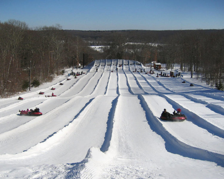 Snowtubing At Yawgoo Valley